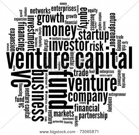 Venture Capital in word collage