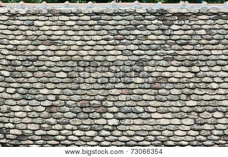 Old Tiles On The Roof