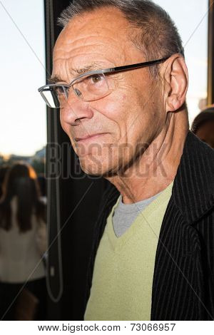 MOSCOW - JUNE, 25: Director Andrei Konchalovsky. White party Hollywood Reporter Magazine at River restaurant, June 25, 2014 in Moscow, Russia