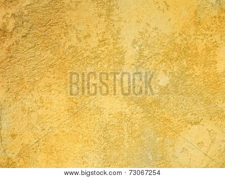 Rough yellow background wall texture