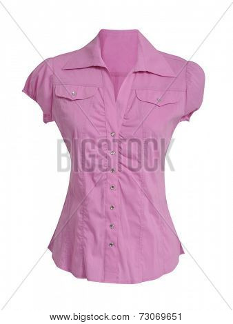 pink blouse isolated on white