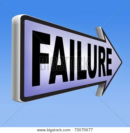 fail attempt exam or important test failure