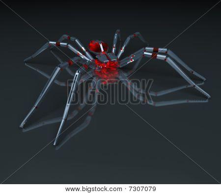 Metall spider - 3D.
