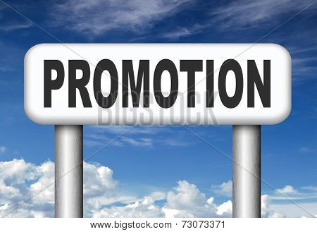 sales promotion or career move and job promotion