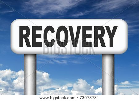 total economic recovery after recession or recover data