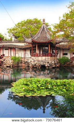 Humble Administrator's Garden in Suzhou, China. Summer day
