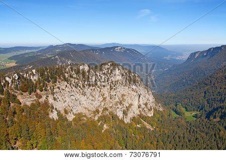 Rocky Jura mountains. Switzerland, Spetember 2014.