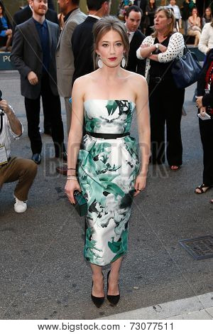 NEW YORK-SEP 26: Actress Carrie Coon attends the world premiere of