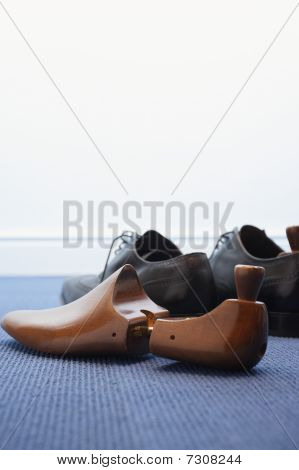 Pair of wing-tip shoes