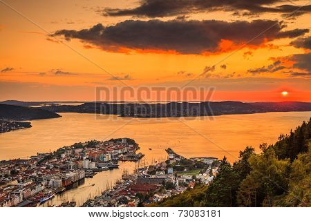 Cityspace Of Bergen, Panoramic View
