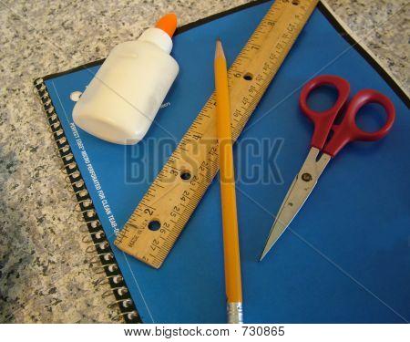 Notebook Pencil Glue