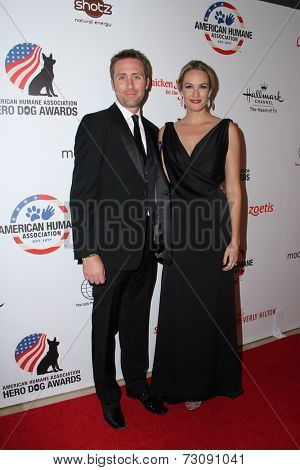 LOS ANGELES - SEP 27:  Ashlan Gorse, Philippe Cousteau Jr. at the Hero Dog Awards at Beverly Hilton Hotel on September 27, 2014 in Beverly Hills, CA
