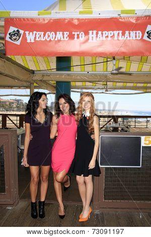 LOS ANGELES - SEP 24:  Bianca Santos, Katherine McNamara, Camille Guaty at the