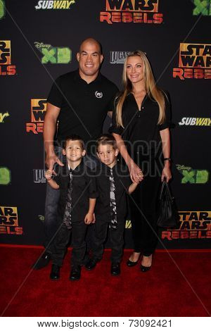 LOS ANGELES - SEP 27:  Tito Ortiz, Amber Miller at the