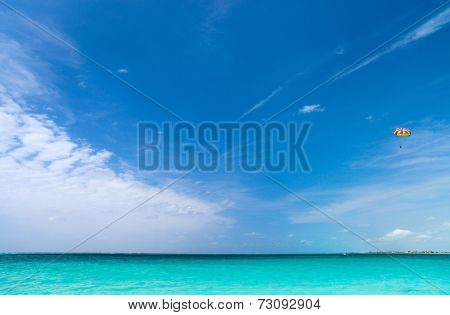 Beautiful Caribbean sea with turquoise tropical water