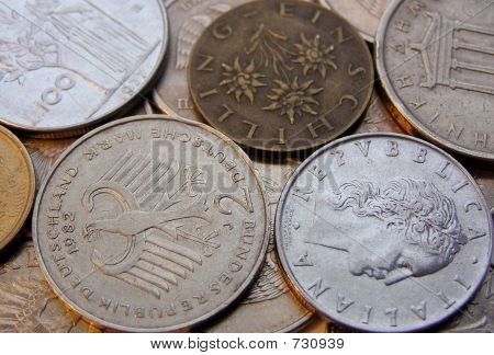 European Coins (background)