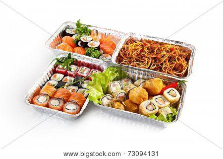 Airplane Food - Various Sushi Box and Pasta