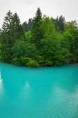 picture of bavarian alps  - Turquoise water of Lech river in Bavarian Alps - JPG