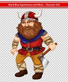 pic of viking  - Illustration of a male viking - JPG