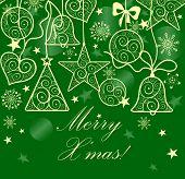 stock photo of weihnachten  - Seamless christmas decoration - JPG