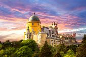 pic of palace  - Fairy Palace against sunset sky  - JPG