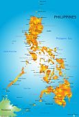 picture of luzon  - Vector color map of Philippines - JPG