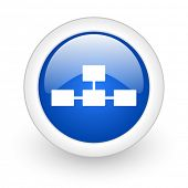 picture of cisco  - database blue glossy icon on white background  - JPG