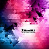 stock photo of triangular pyramids  - Abstract Triangular Mosaic Background - JPG