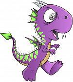 picture of insane  - Insane Purple Dragon Illustration Art - JPG
