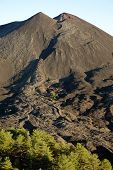 picture of volcanic  - small volcanic cone of De Fiore Mount and cooled lava flow  - JPG