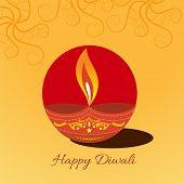 image of diya  - Vector diwali diya background illustration - JPG