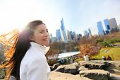 stock photo of early 20s  - Woman in Central park - JPG