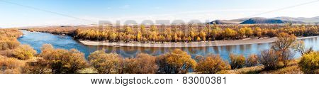 Grassland autumn scenery in China(panorama)