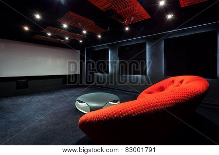 Comfortable Red Sofa In Interior