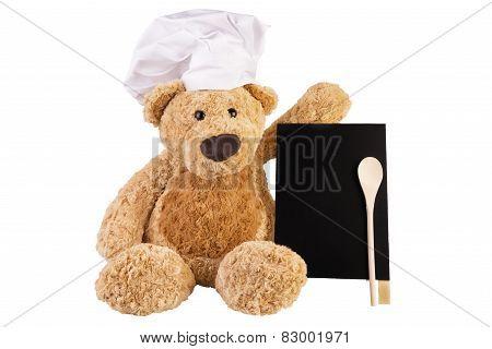 Teddy Bear With Slate Board.