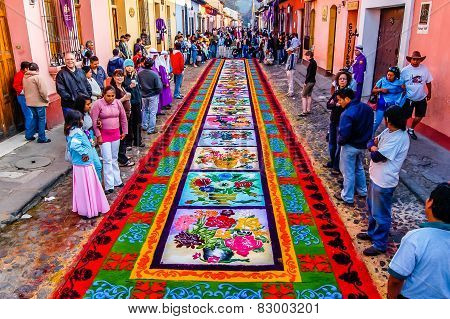 Holy Week Carpet, Antigua, Guatemala