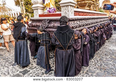 Lent Boys' Procession, Antigua, Guatemala