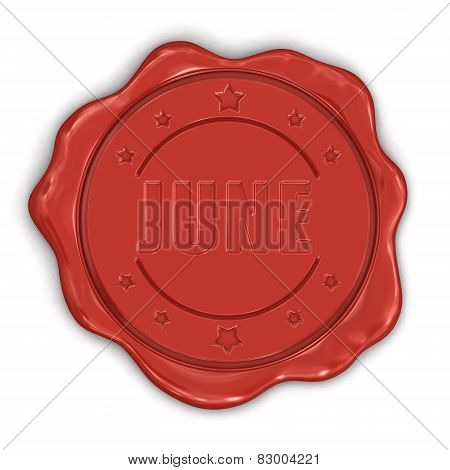 Wax Stamp june (clipping path included)