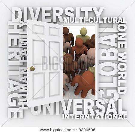 Diversidad - puerta abierta a diversas culturas