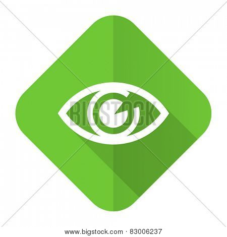 eye flat icon view sign