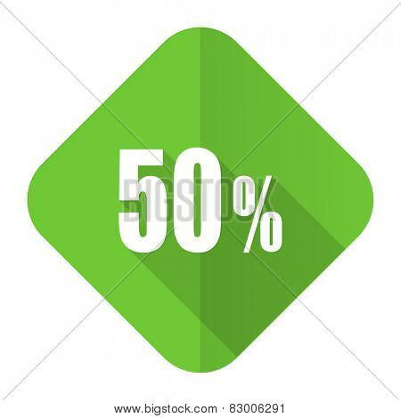 50 percent flat icon sale sign