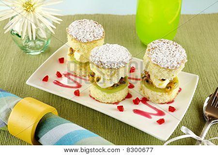 Passion-fruit Sponge Stack