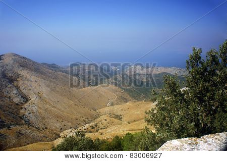Landscape in mountains