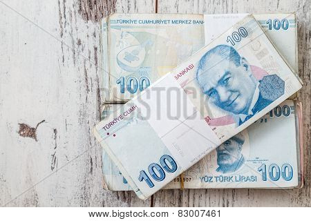 Bunch Of Turkish Lira