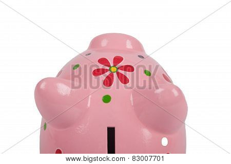 Pink Piggybank Isolated On White