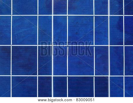 Solar power generation technology, green alternative energy and environment protection ecology business concept background - solar battery panel close up