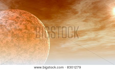 Hot Planet In Space