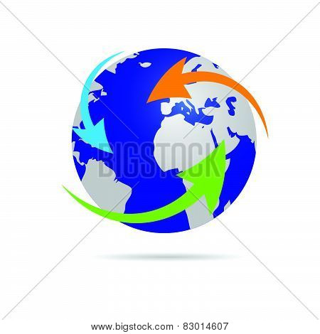 Earth Planet Globe Vector