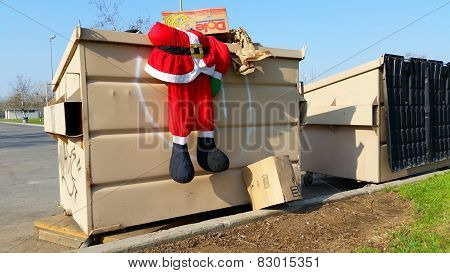 Discarded Santa Suit