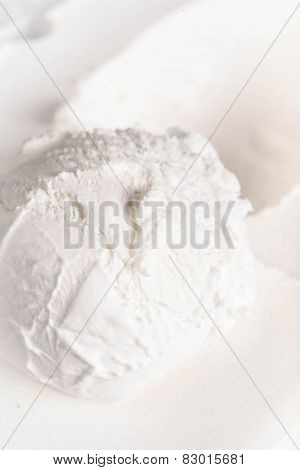 Vanilla Soft Ice Cream Background. Beige Textured Cream Ice-cream Backdrop